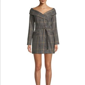 8d45bf24bb2f Reformation Dresses | Lovers Friends Lara Blazer Dress In Gray Check ...
